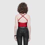 Designer red one-piece swimwear GU08