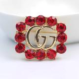 J002 Designer GG Rhinestone Brooch