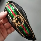 P1975 Designer GG sequins Red Green Hairband