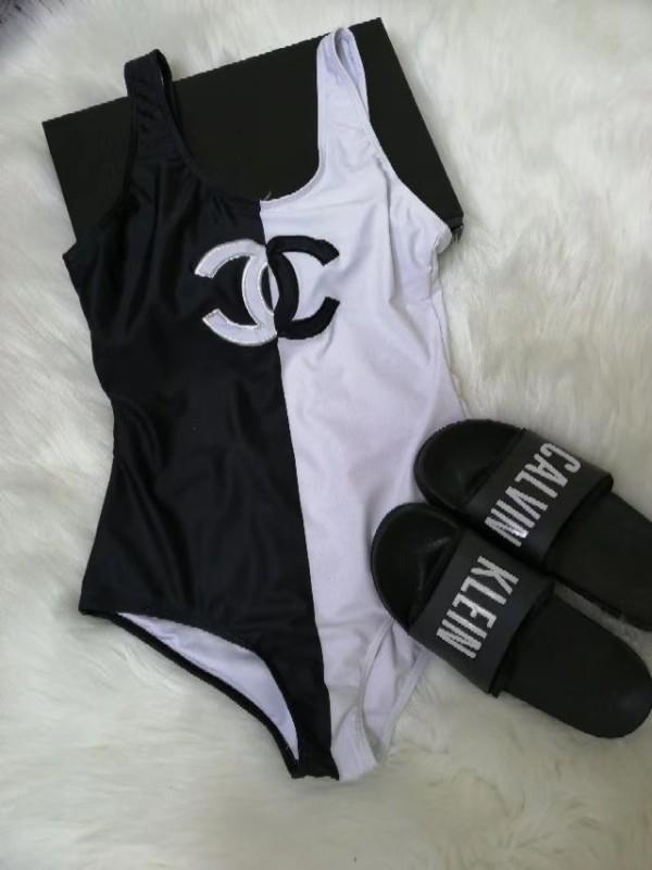 MCH01 New Chanel Swimwear black and white