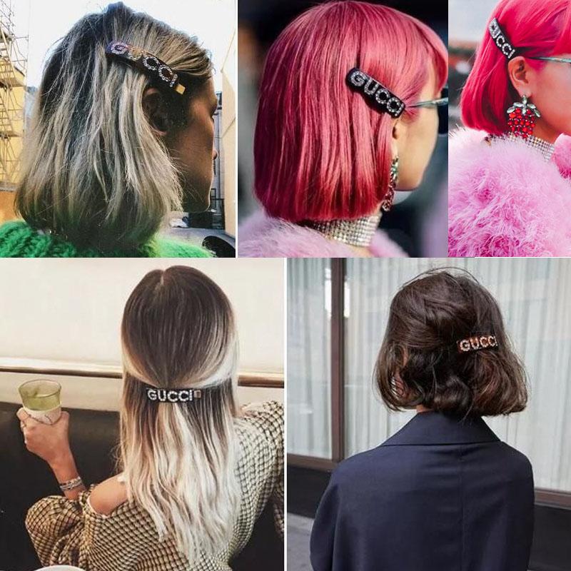 GG Gorgeous Diamond Barrettes  Hair Clips