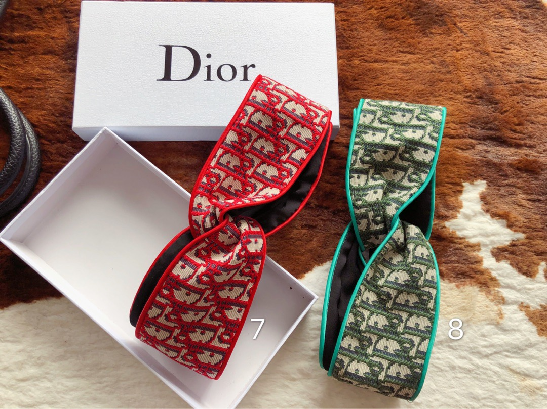 X176 New Dior Jacquard Headbands