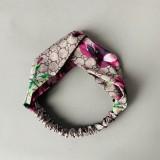 Inspired Blooms Printed Satin Silk Headband