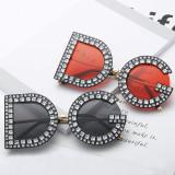 GL9156 Designer DG Rhinestone Inlaid Sunglasses