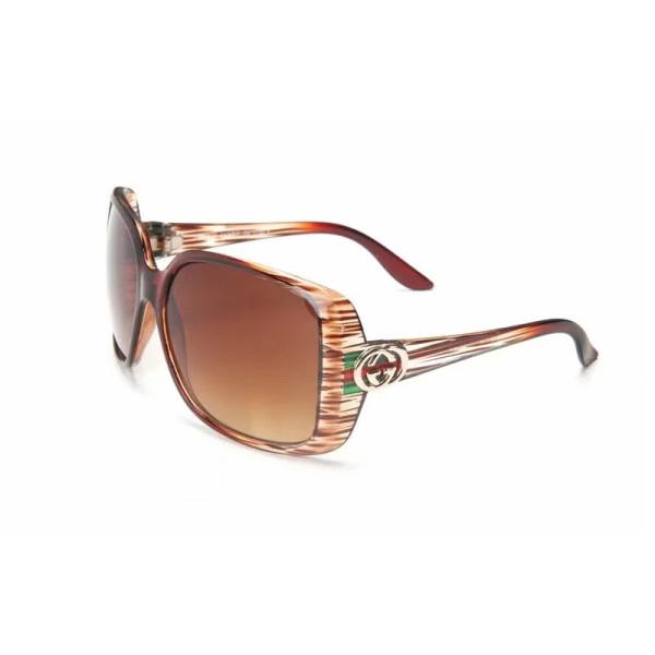 GL3166 Designer GUCCI Stripe Leopard Sunglasses