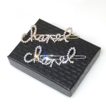 X188 Chanel Hair clip with crystal and pearls