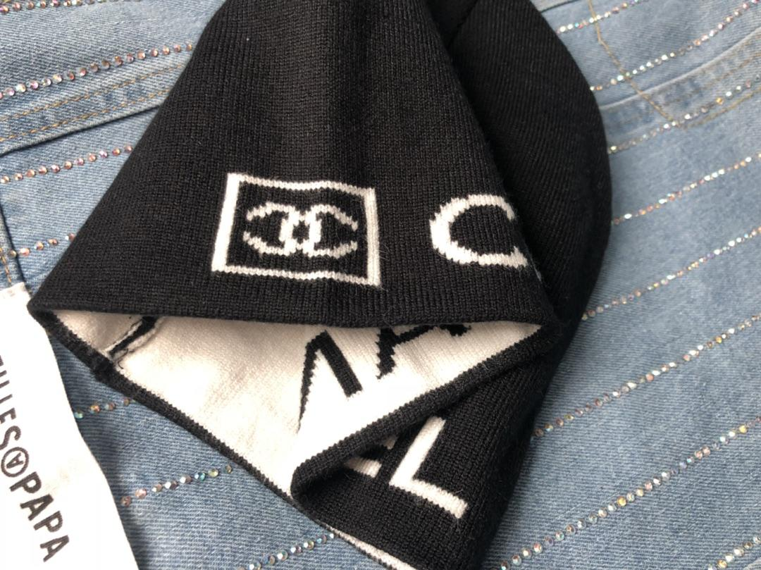 wool kintted Chanel beanie hat for winter X152