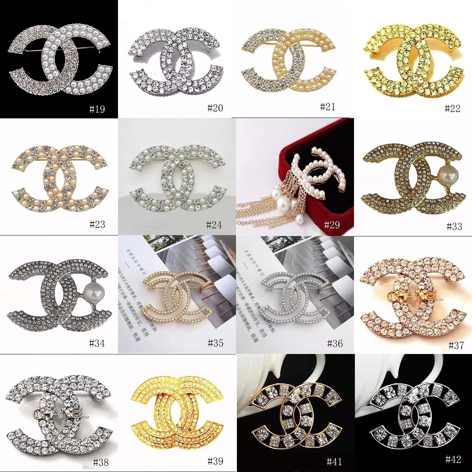 Chanel brooch with Crystal Pearl A0648
