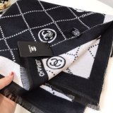 Chanel Scarf camellia and check SC22