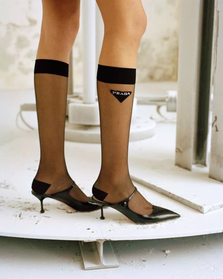 S77 Prada knee high Socks