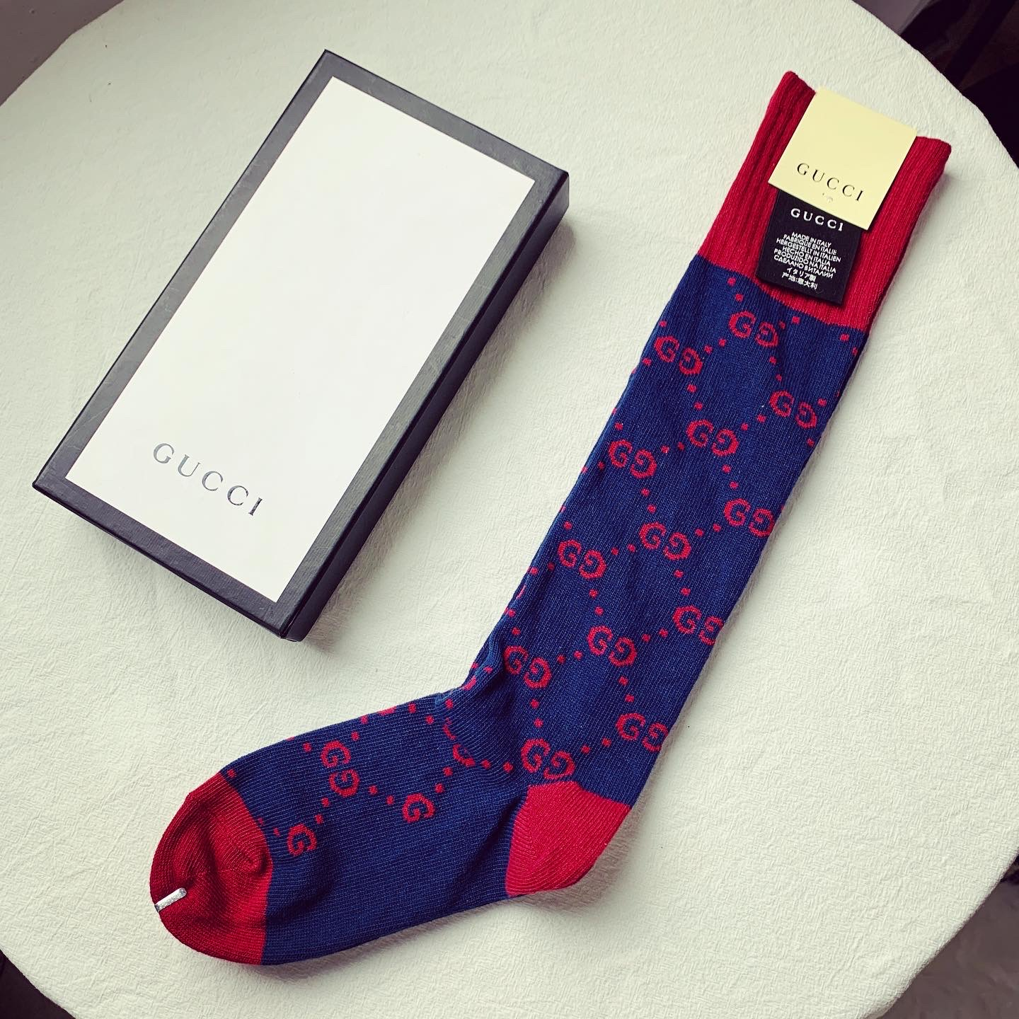 Navy Blue GG socks S102