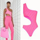 Fendi Swimsuit Hot pink D8806