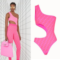 Fendi Swimsuit Hot pink D8806