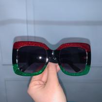 GL0083 Designer GG Red&Green Sunglasses