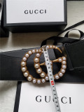 7cm wide belt with pearl double G