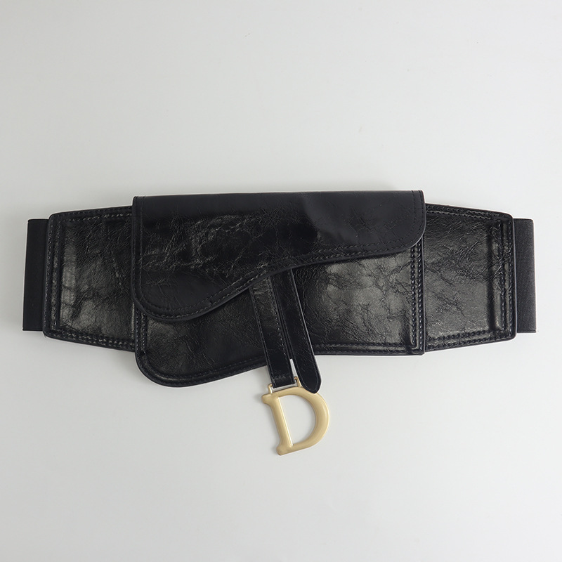 CD04 DIOR Elasctic Leather Belt