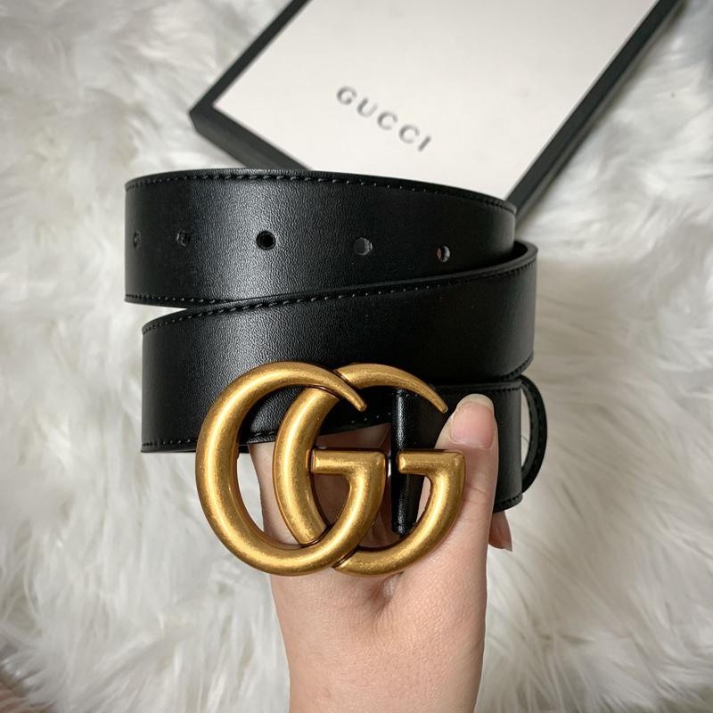 Double G leather belt 3.8cm