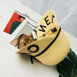 Embroidered Straw Hat Double brims