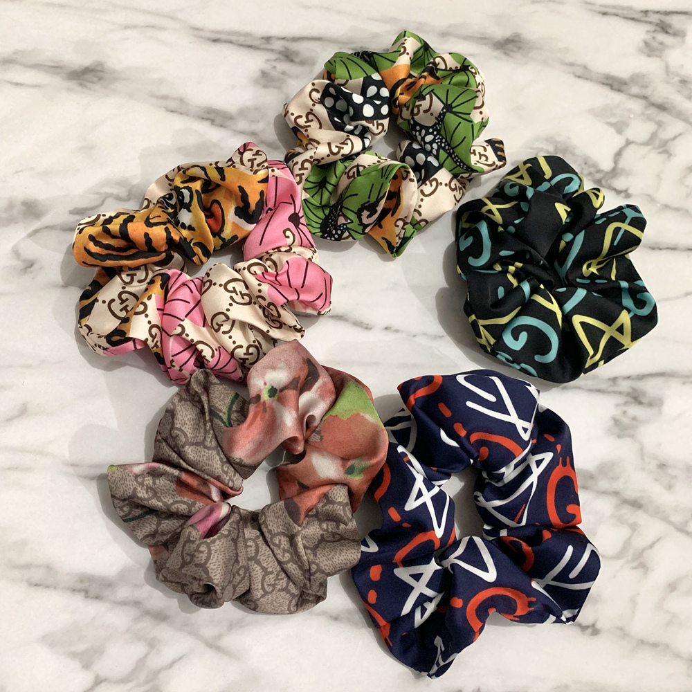 Inspired Printed Scrunchies Silk like