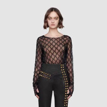 GG embroidered tulle T-shirt