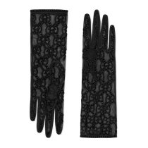 GG embroidered tulle Gloves