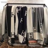 Monogram Blanket Shawl