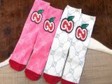 Apple Print Socks S116