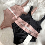 GG embroidered tulle lingerie set
