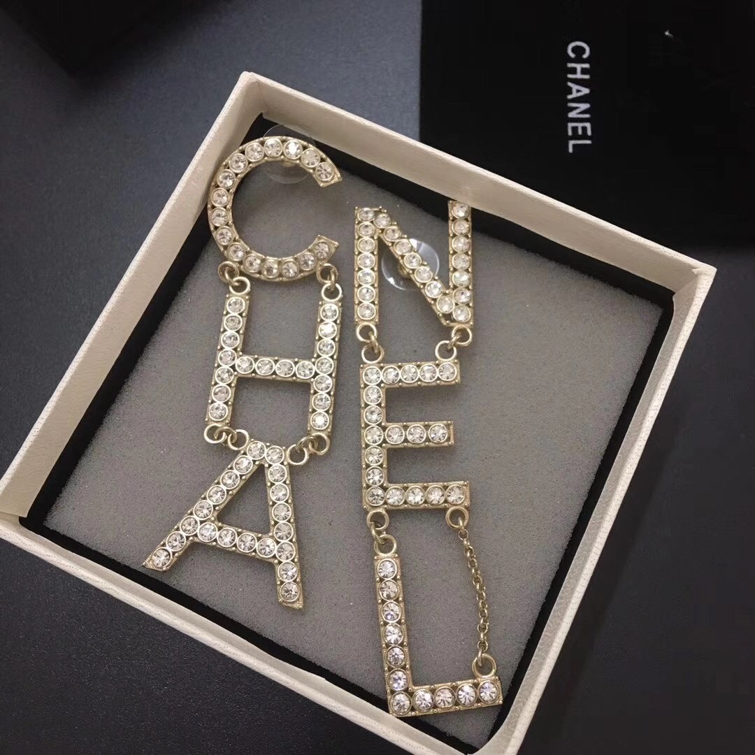 Chanel Crystal Earrings 1:1