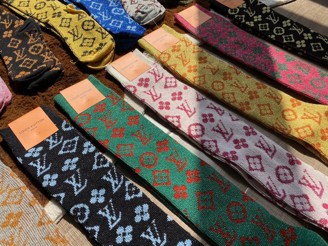Glitter Monogram Knee Socks