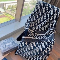 Monogram Blanket Dark Blue 150*200cm