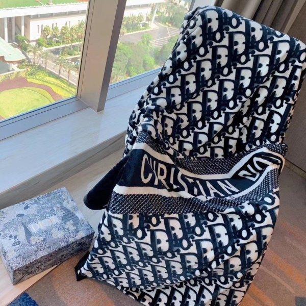 Monogram Blanket Dark Blue 150*200cm