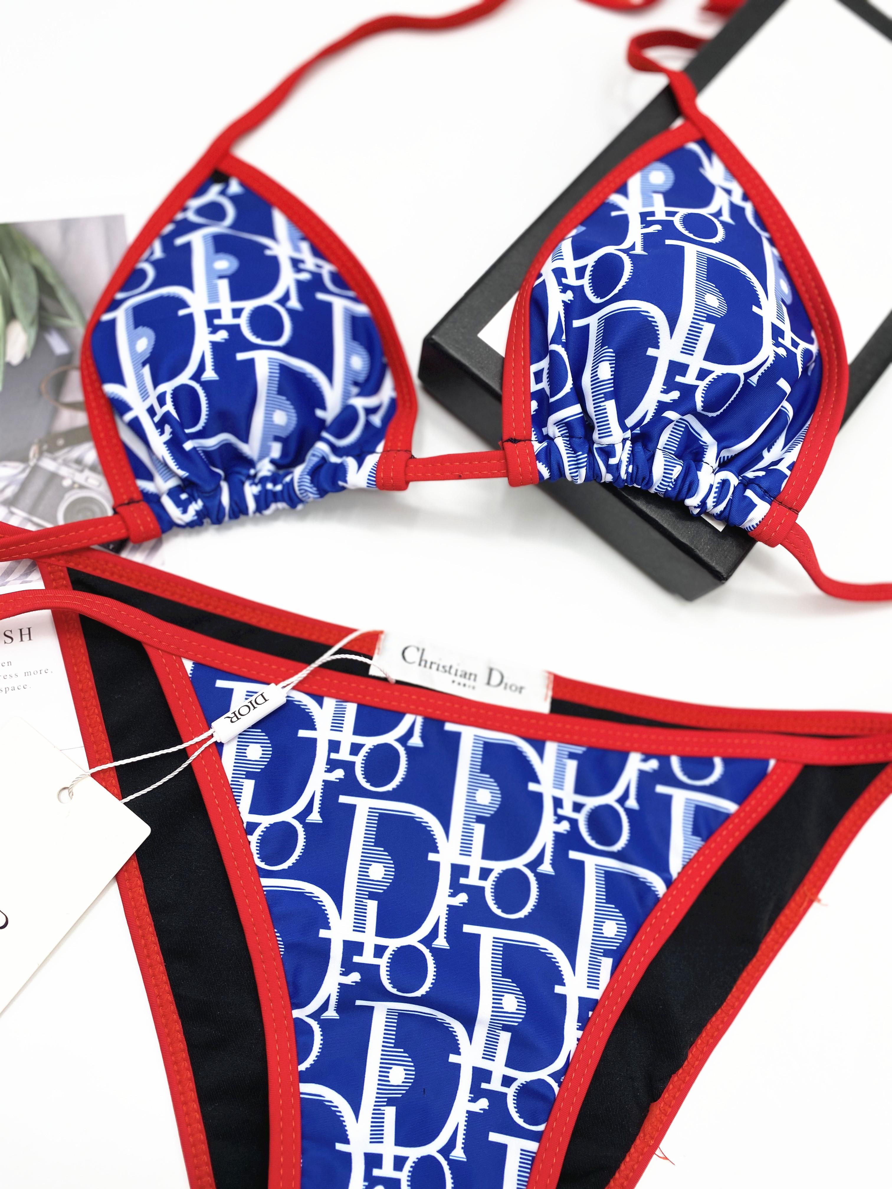 Royal blue Dior Bikinis