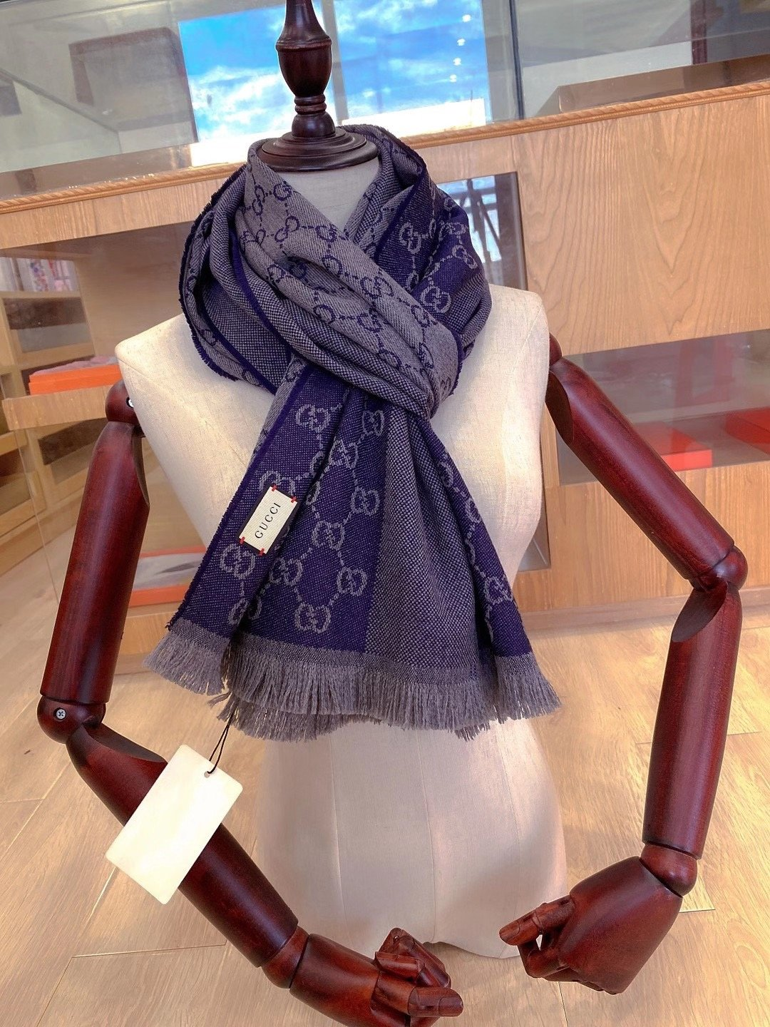 New GG Scarf 45x190cm Top Top Quality