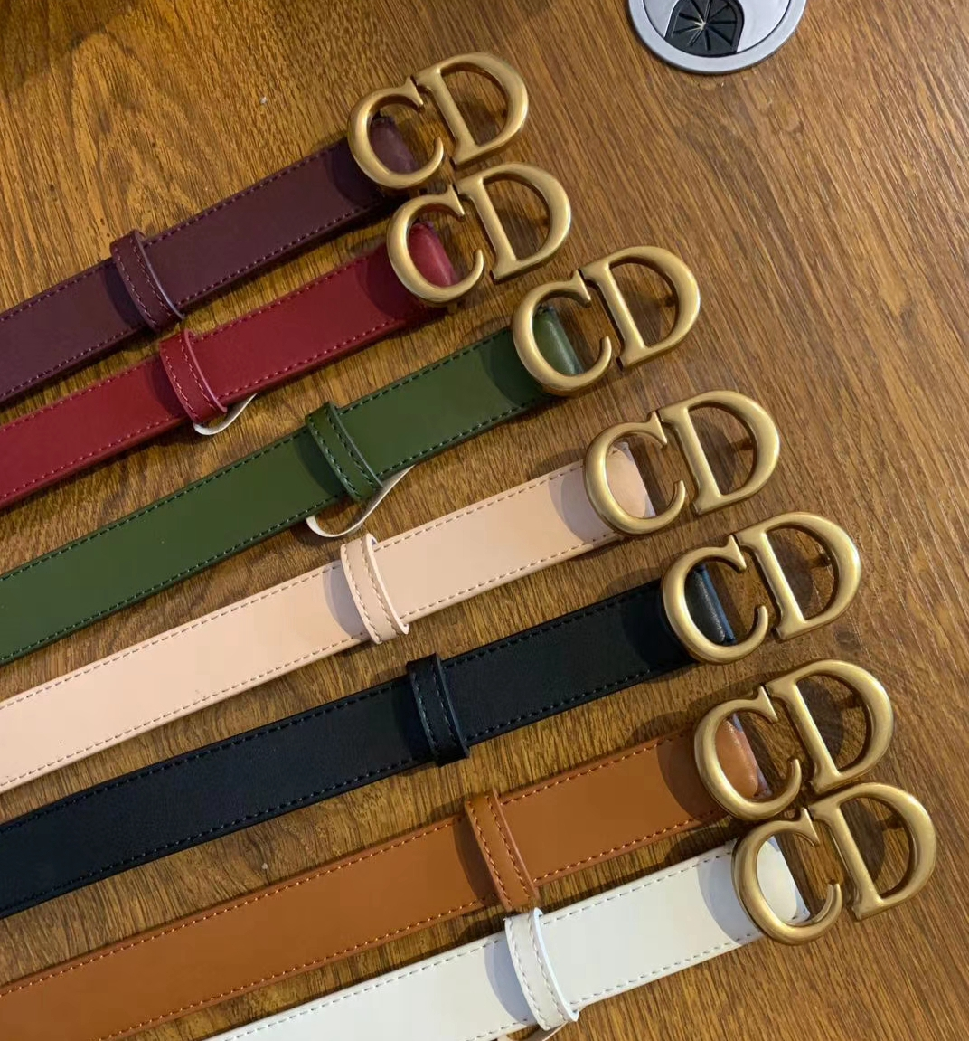 leather CD Belts Autumn Color 2cm 3cm