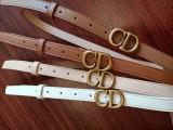 leather CD Belts Autumn Color 2cm 3cm