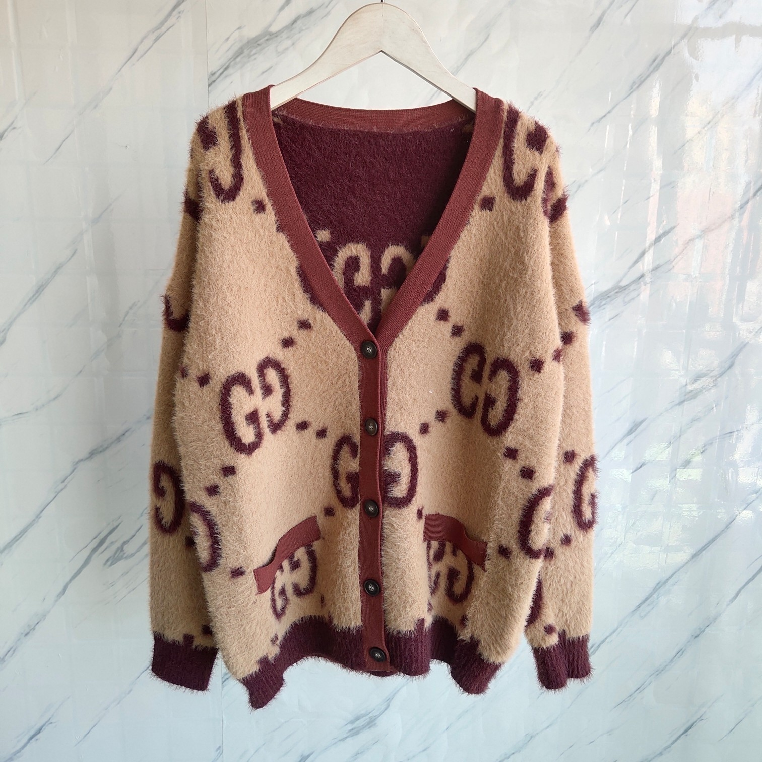 New Thick GG Cardigan Gorgeous Color
