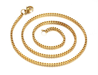 Wholesale IP Gold Stainless Steel Necklace for Sale