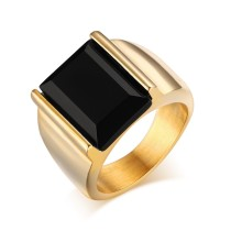 Mens Stainless Steel Ring Molds with Black Agate