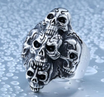 Jewelry China Wholesale Stainless Steel Skull Ring