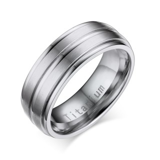 Wholesale Gold Groove Titanium Rings from China