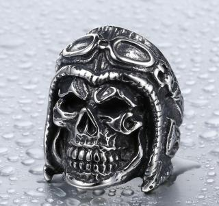 Wholesale Fashion Aviator Skull Ring Jewelry
