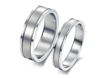 Stainless Steel Wedding Ring Male