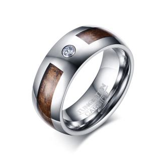 Wholesale Mens Wood Inlay Tungsten Wedding Bands