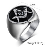 Stainless Steel Masonic Ring Mens