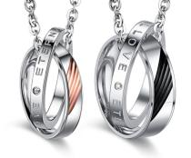 Wholesale Stainless Steel Cute Couple Pendant