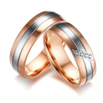 Wholesale Stainless Steel Male and Female Wedding Bands