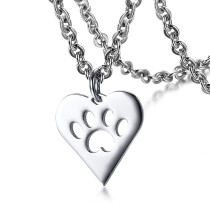 Wholesale Stainless Steel Pet Footprint Dog Tags