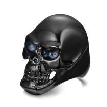 Stainless Steel IP Black Skull Rings for Men