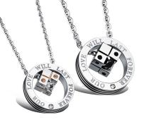 Stainless Steel Couple Pendants Necklace
